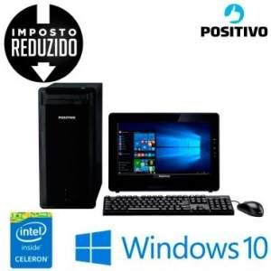 [RICARDO] Computador Positivo Premium com Intel® Celeron-J1800 Dual Core, 2GB de Memória, 320GB HD, Sintonizador de TV e Windows 10 - DR3515 + Monitor
