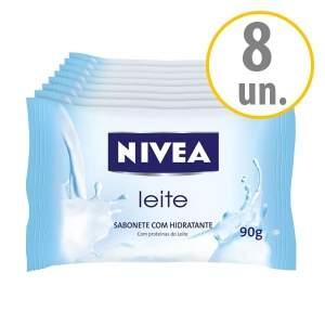 [NetFarma] Kit Sabonete Nivea Hidratante Proteínas do Leite por R$ 9