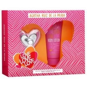 [Ricardo Eletro] Perfume Love Love Love, Agatha Ruiz de La Prada, 80ml + Loção Hidratante 100ml - R$69