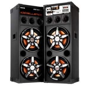 [ricardoeletro]Caixa Amplificada Multi-Uso NKS PK5000 - 600W, Entrada USB, 4 Alto-Falantes de 10 Polegadas + Microfone Grátis