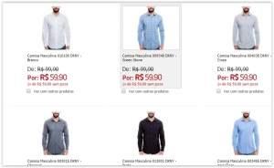 [Ponto Frio] Camisas Masculinas DKNY por R$ 60
