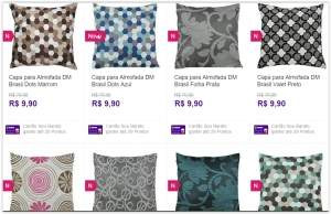 [Sou Barato] Capa para Almofada DM Brasil diversas estampas por R$ 10