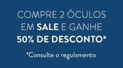 [Sunglass Hut] 50% de desconto na compra de 2 óculos da promoção