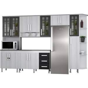 [SHOPTIME] Cozinha Completa Indekes Lia 6 Peças Branca/Griz/Grafite - R$ 641,00