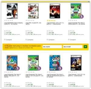 [Ricardo Eletro] Diversos games para PC a partir de R$ 2