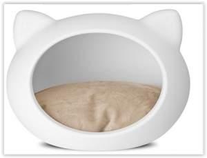 [Submarino] Casa p/ Gatos Cat Cave Branco - Almofada Natural - Guisa Petpor R$ 57