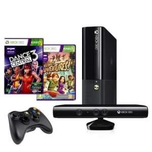 [CASAS BAHIA] Console Microsoft Xbox 360 4GB + Kinect + Controle Wireless + Jogo Kinect Adventures + Jogo Dance Central 3 - Console Microsoft Xbox 360