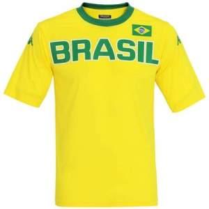 [Centauro] Camiseta Brasil Kappa Países - Masculina por R$ 4