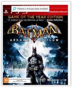[Submarino] Game Batman - Arkham Asylum - PS3 por R$ 36