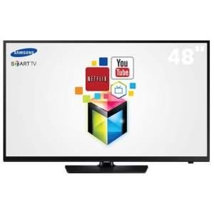 """[CASAS BAHIA] Smart TV LED 48"""" HD Samsung UN48H4203 com Conversor Digital, Função Futebol, ConnectShare Movie, Entradas HDMI e USB e Wi-Fi - R$ 1.779,"""