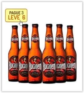 [Empório da Cerveja] Kit Bucanero - Na Compra de 3, Leve 6 por R$ 19