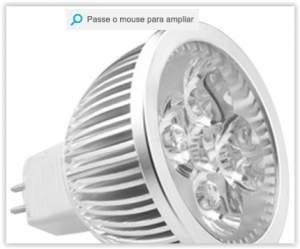 [Shoptime] Lâmpada LED Spot Dicróica Branco Frio 12V Etna 5W - Gaya por R$ 14