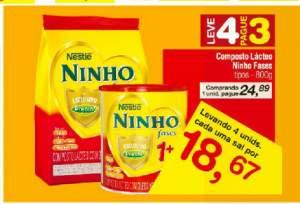 [Carrefour- Loja Física]Leite Ninho Fases 1+ por R$ 19