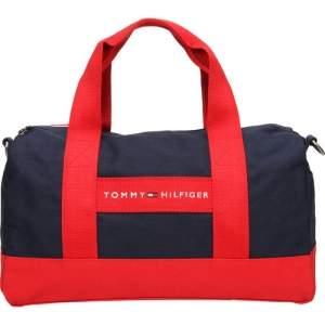[SUBMARINO]  Bolsa Baú Tommy Hilfiger Mini Duffle - Azul Marinho / Vermelho - Tamanho Único - R$ 99,00