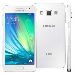 """[EXTRA] Smartphone Samsung Galaxy A3 4G Duos A300M/DS Branco com Dual Chip, Tela 4.5"""", Android 4.4, Câmera 8MP e Processador Quad Core 1.2GHz - R$749"""