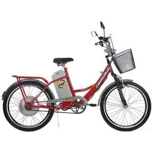 [SOU BARATO] Bicicleta Elétrica TKX City Plus Aro 24 350W Vermelha - Track Bikes - R$1999