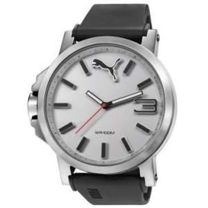 [CLUBE DO RICARDO] Relógio Masculino Puma Ultra Size, Analógico, Pulseira de Borracha, Caixa de 5,3 cm, Resistente à Água 100 Metros - 96218G0PMNU2 - R$249,90