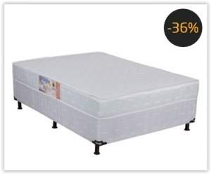 [Ponto Frio] Cama Box Conjugada Casal Umaflex New Granada Plus com Espuma D28 51x138x188 cm – Branco por R$ 155