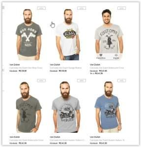 [Dafiti] Camisetas Von Dutch a Partir de R$ 28
