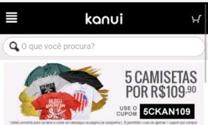 [Kanui] 5 Camisetas por R$ 110