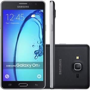 """[Shoptime] Smartphone Samsung Galaxy On7 Dual Chip Desbloqueado Android 5.1 Tela 5.5"""" 8GB 4G 13MP - Preto R$811,39 no Boleto, use o cupom: SUPERCUPOM"""