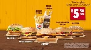 [Burger King] King Ofertas - R$5.50
