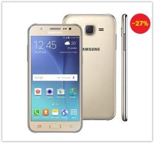 """[Ponto Frio] Smartphone Samsung Galaxy J5 Duos Dourado com Dual chip Tela 5.0"""", 4G, Câmera 13MP, Android 5.1 e Processador Quad Core de 1.2 Ghz por R$ 789,65"""