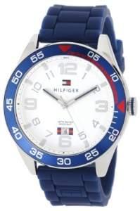 [Amazon/EUA] Tommy Hilfiger 1790977 relógio do aço inoxidável com a faixa azul Silicone por R$ 258