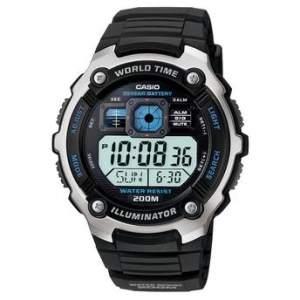 [Walmart] Relógio Casio Masculino Esportivo, Pulseira em Resina, Alarme, Horário Mundial, Caixa em Resina e Aço, Resistente à Água 200m - AE-2000W-1AVDF R$ 139,90