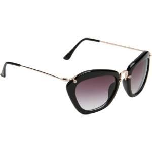 [americanas] Óculos de Sol Butterfly Feminino Fashion - Preto / Preto - Tamanho Único R$ 50,00