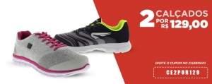 [Centauro] 2 calçados por R$129,00