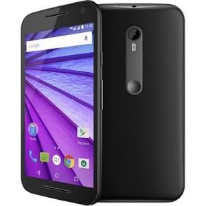 """[Submarino] Smartphone Motorola Moto G 3ª Geração Ds Colors HDTV Dual Chip Desbloqueado Android 5"""" 16GB Wi-Fi Câmera 13MP - Preto R$896,89"""