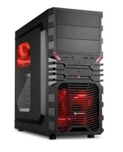 [KABUM] Gabinete Sharkoon ATX VG4-W Red - R$150