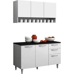 [Americanas] Cozinha Compacta Madesa Smart Branco 2 Peças: Armário Aéreo + Balcão utilize o cupom: MOVEIS10 R$256,41