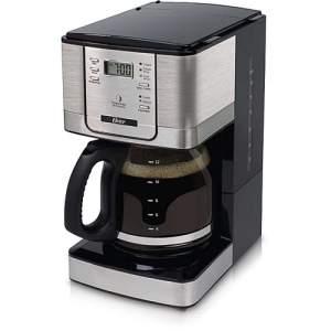 [Americanas] Cafeteira Elétrica Oster Programável 4401 Preta com Inox Jarra de Vidro 1,4 Litros  por R$ 126