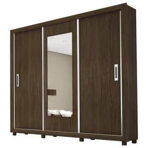 [Casas Bahia] Guarda-Roupa Carioca Móveis Bahia com 3 Portas e Espelho R$674,91