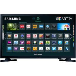 "[Shoptime] Smart TV LED 32"" Samsung UN32J4300AGXZD HD com Conversor Digital 2 HDMI 1 USB Wi-Fi 120Hz R$1.022,31"