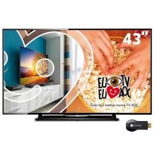 """[PontoFrio] Tv LED 43"""" AOC + Chromecast por R$ 1434"""