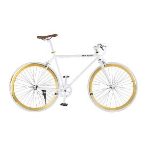 [Walmart] Bicicleta Passeio Sunburst Aro 26 Fixed Bike Branca e Dourada R$599,90