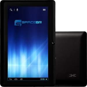 "[Americanas] Tablet Space BR 556545 4GB Wi-fi Tela 7"" Android 4.2 Processador Dual Core 1.0 GHz - Preto R$161,00"