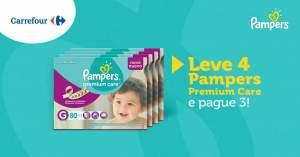 [Carrefour - Lojas físicas] Pampers Premium Care Leve 4 Pague 3
