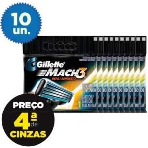 [Ricardo Eletro] Leve Mais Pague Menos: 10 cargas Gillette Mach3 Regular R$39,10