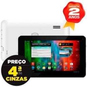 [Clube do Ricado] Tablet Prestigio Multipad 3870C, Tela 7, Processador Dual Core 1.5 GHz, 8GB, Android 4.1, Wi-fi, Câmera Frontal - Preto R$159,90