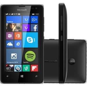 """Smartphone Microsoft Lumia 532 DTV Dual Chip Desbloqueado Windows Phone 8.1 Tela 4"""" 8GB 3G Câmera 5MP com TV Digital - Preto"""