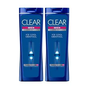 [Netfarma] Kit Shampoo Clear Men Anticaspa Ice Cool Menthol por R$22