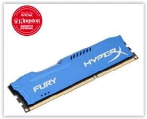 [Game7] Memória Gamer Kingston Hyper X Fury 4 GB 1866Mhz DDR3 CL10 Blue - HX318C10F/4 por R$ 112