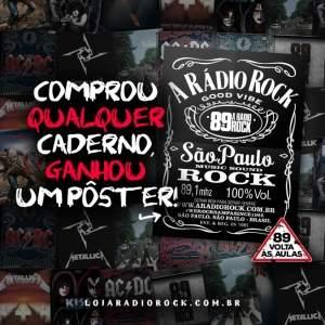 [Loja Rádio Rock] Compre um Caderno de Rock e Ganhe um Pôster a partir de R$7,90