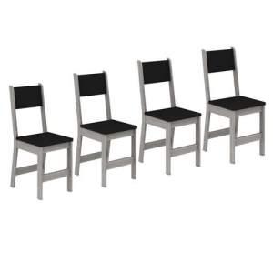 [Casas Bahia]Kit com 4 Cadeiras Madesa Rubia 42252-  R$69,70