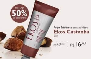 [Natura] Polpa Esfoliante para Mãos Natura Ekos Castanha - 60 g - De R$32,90 por R$16,40