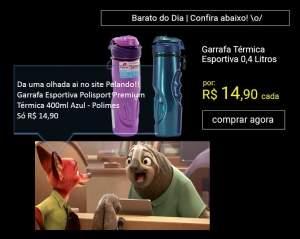 [Sou barato] Garrafa Esportiva Polisport Premium Térmica - R$ 15,00.